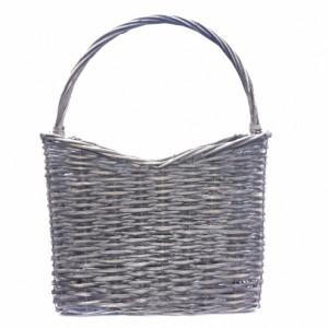 Basket With Handle Grey