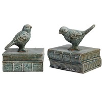 blue bird book ends