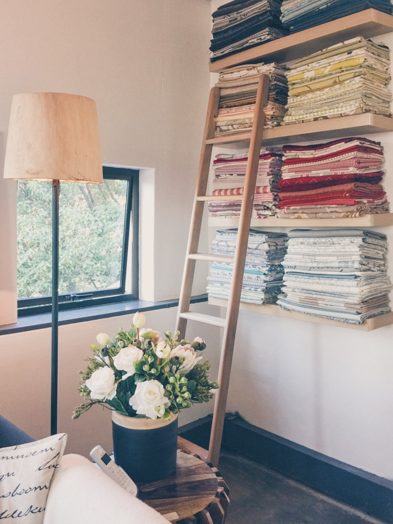 Only a small part of our fabric library...