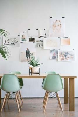 'In the Mood' paired with soft greens - perfect for a calming study area!
